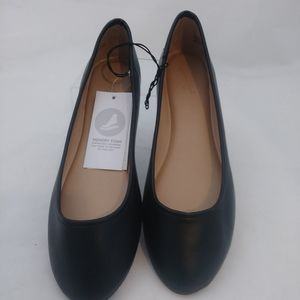 Women's Everly Faux Leather Round Toe Ballet Flats